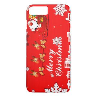 Santa and Reindeer Christmas iPhone 8 Plus/7 Plus Case
