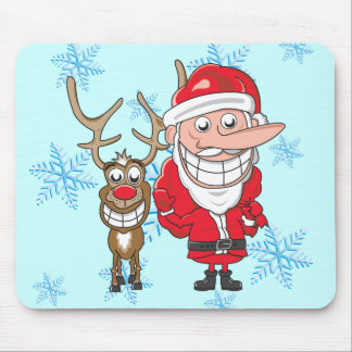Santa and Reindeer Mouse Pad