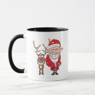 Santa and Reindeer Mug