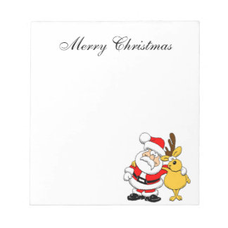Santa and Reindeer Notepad