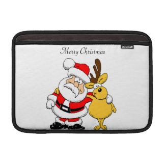 Santa and Reindeer Sleeves For MacBook Air
