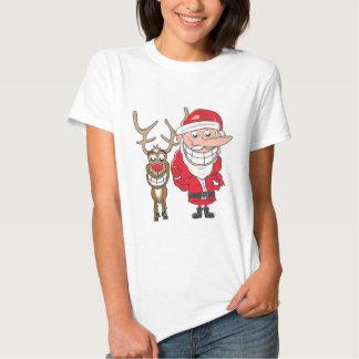 Santa and Reindeer T Shirt