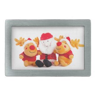 Santa And Reindeers Belt Buckle