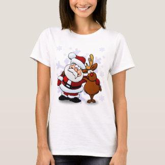 Santa And Reindeers T-Shirt