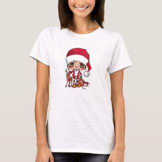 Santa and Rudolf T Shirt