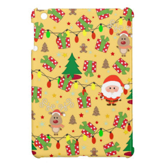 Santa and Rudolph pattern Case For The iPad Mini