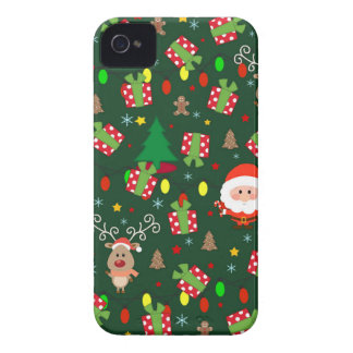 Santa and Rudolph pattern Case-Mate iPhone 4 Case