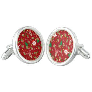 Santa and Rudolph pattern Cufflinks