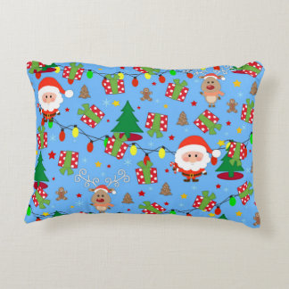 Santa and Rudolph pattern Decorative Cushion