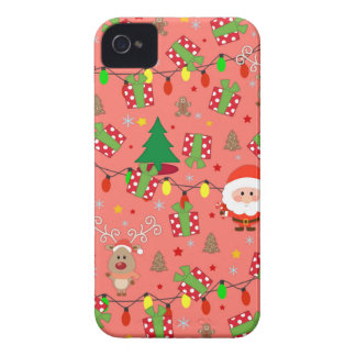 Santa and Rudolph pattern iPhone 4 Cases