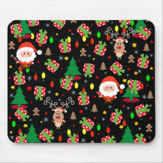 Santa and Rudolph pattern Mouse Pad
