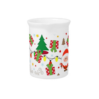 Santa and Rudolph pattern Pitcher