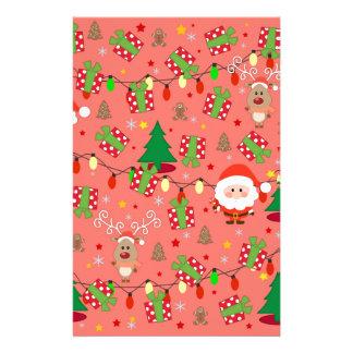 Santa and Rudolph pattern Stationery