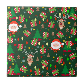 Santa and Rudolph pattern Tile