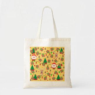 Santa and Rudolph pattern Tote Bag