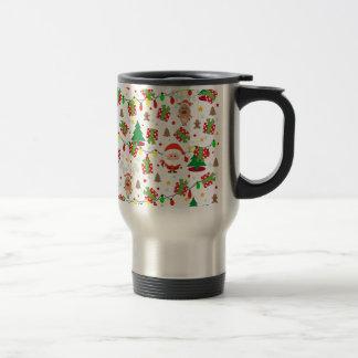 Santa and Rudolph pattern Travel Mug