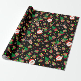 Santa and Rudolph pattern Wrapping Paper