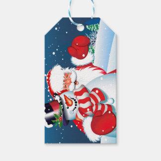 Santa and Showman Gift Tag