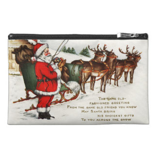 Santa and Sleigh with Reindeer Travel Accessory Bag