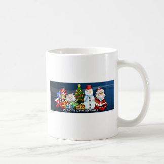 Santa and Snowman Christmas Mugs