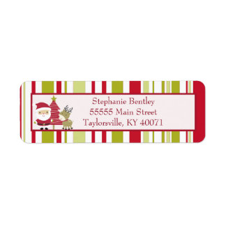 Santa and Snowman Christmas Return Address Label