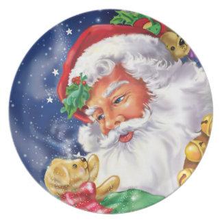 Santa and Teddybear Plate