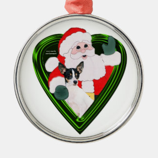 Santa And TFT Round Ornament