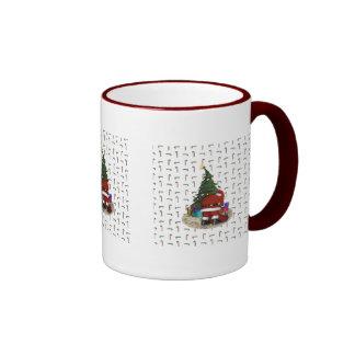 Santa and the Christmas Tree Coffee Mug