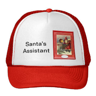 Santa and the gramaphone cap