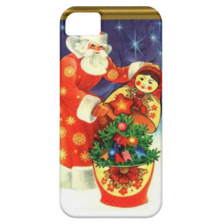 Santa and the matryoshka barely there iPhone 5 case