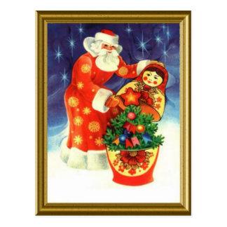 Santa, and the matryoshka postcard
