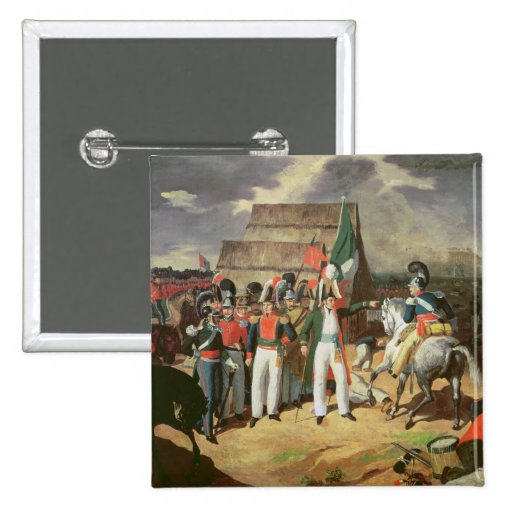 Santa Anna defies the Spanish troops Pinback Buttons