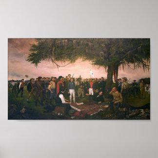 Santa Anna Surrender to Sam Houston at San Jacinto Poster