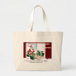 Santa as CEO of the North Pole Jumbo Tote Bag