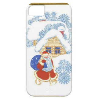 Santa at the Christmas cottage Case For The iPhone 5