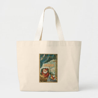 Santa at the North Pole Canvas Bags