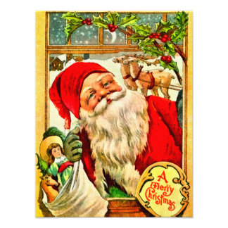 Santa At Window with Bag of Toys Photo Art