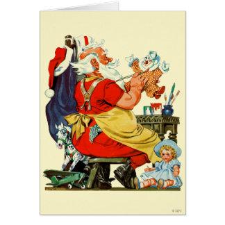 Santa at Work Card