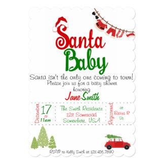 Santa Baby Baby Shower Card