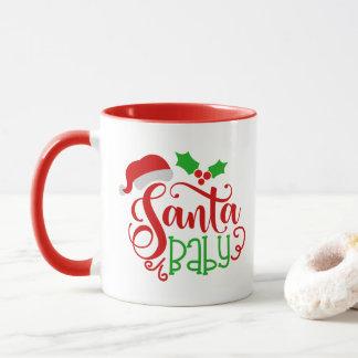 Santa Baby Christmas word art mug
