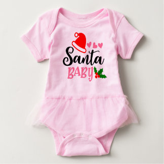Santa Baby Onesis For Christmas Gifts Baby Bodysuit