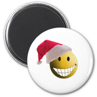 santa ball-2 6 cm round magnet
