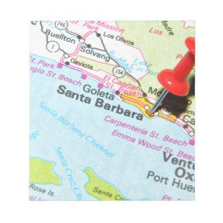 Santa Barbara, California Notepad