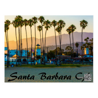 SANTA BARBARA CALIFORNIA ON THE BEACH POSTCARD