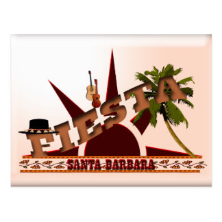 Santa Barbara Fiesta Postcard