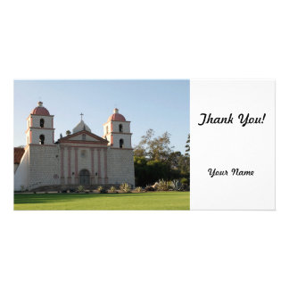 Santa Barbara Mission Personalised Photo Card
