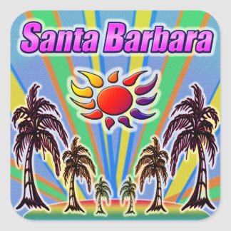 Santa Barbara Summer Love Sticker