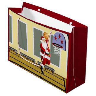 Santa Basketball Large Gift Bag