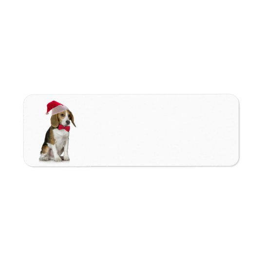 Santa Beagle Return Address Label