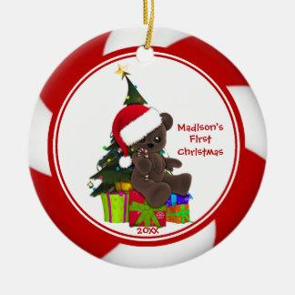 Santa Bear Baby s First Christmas Ornament